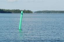 Bilden föreställer ett annat sjömärke än det nu saknade